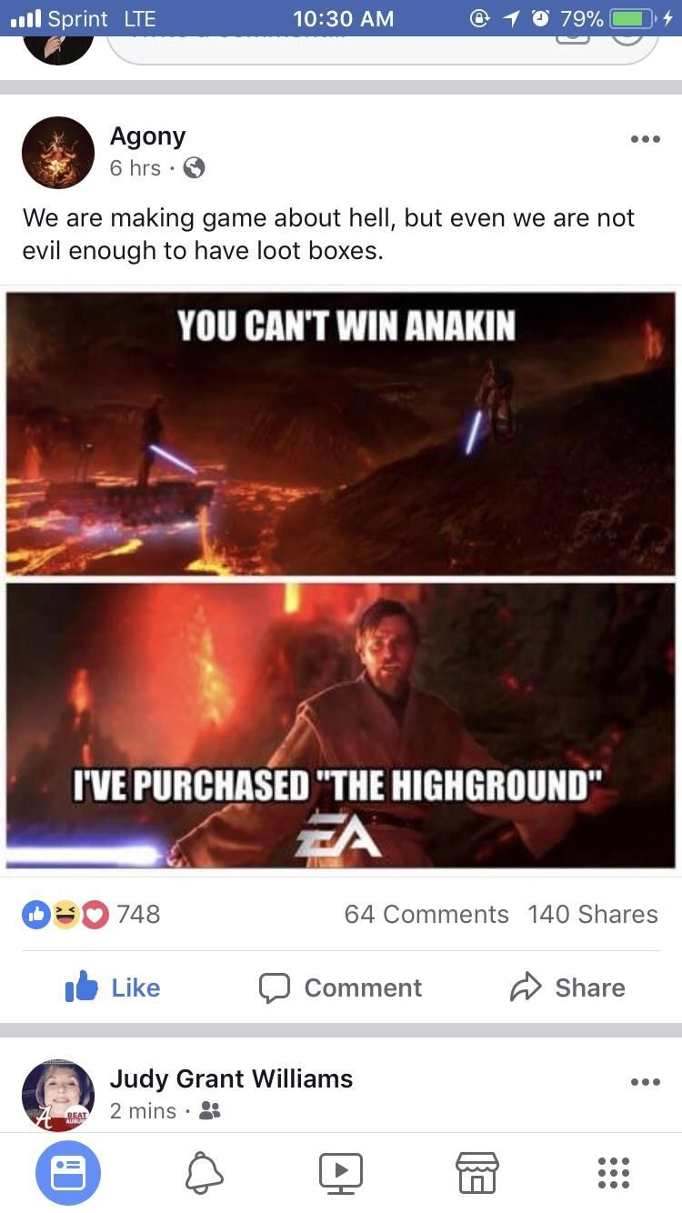 Okay even Agony is roasting EA right now  The amount they messed up