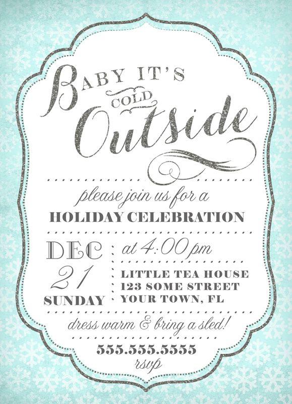 Christmas Snowflake Invitation Template Winter Holiday Party Etsy Snowflake Invitations Christmas Invitations Template Christmas Invitations