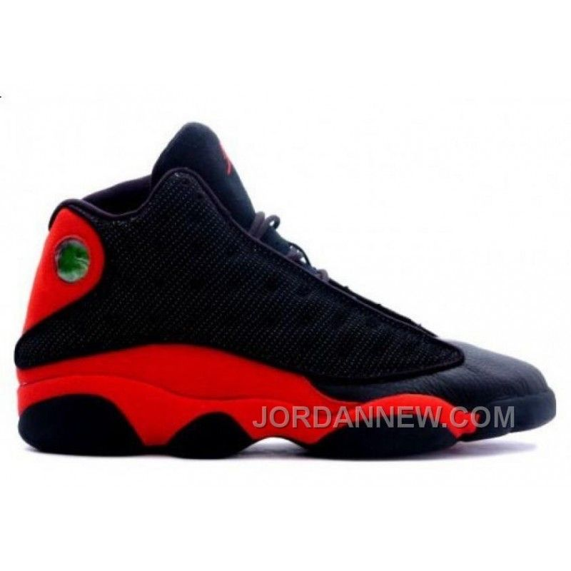 Discount Authentic 414571-010 Mens Nike Air Jordan 13 Shoes Bred Black/True Red