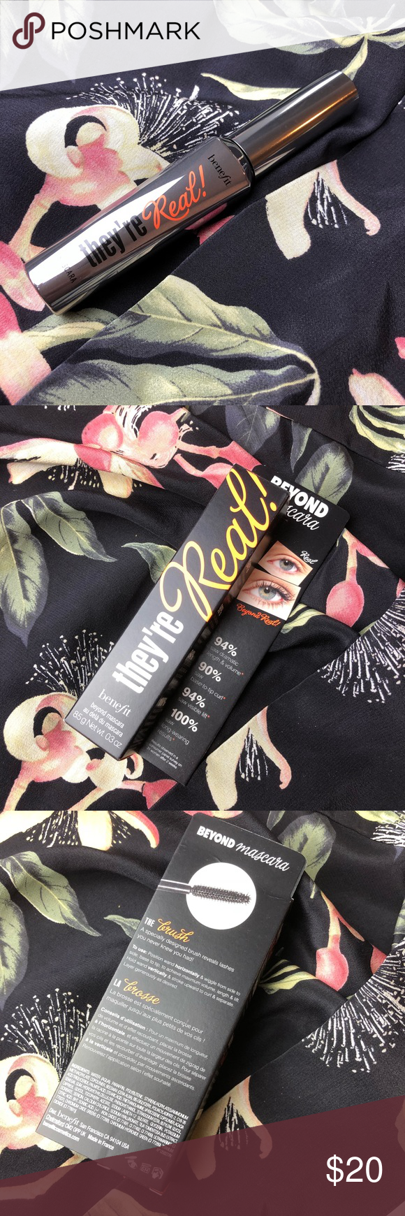 32bd5dbef3c Benefit they're real black mascara NIB NWT New in box/ with tags benefit  they're real mascara Black mascara never been used No traded Benefit Makeup  Mascara