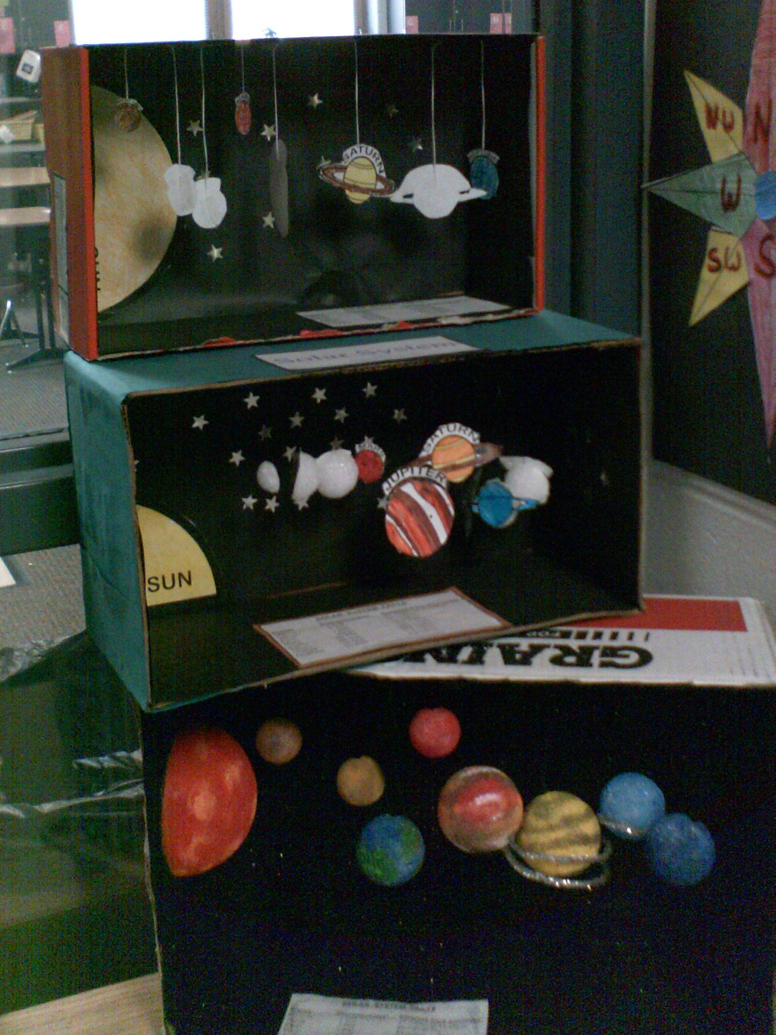 solar system dioramas, elementary school   Space   Pinterest