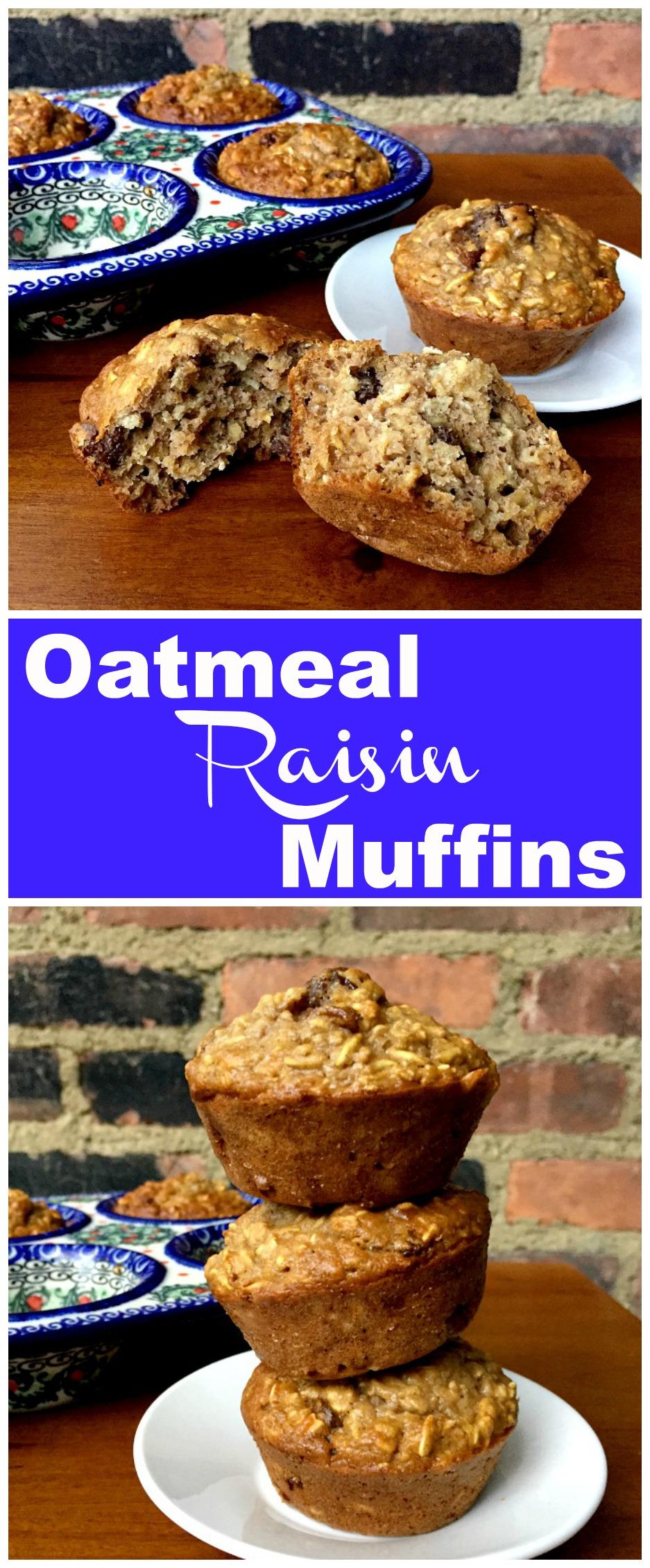 Oatmeal Raisin Muffins Recipe Raisin Muffins Oatmeal