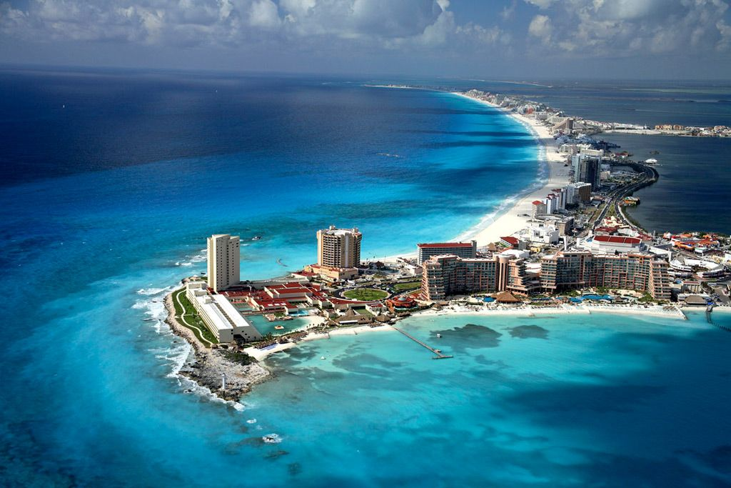 Cancun!  Except for the color of the water, it reminded me a lot of North Myrtle Beach!