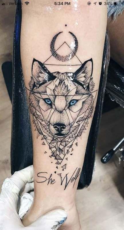 Tattoo Wolf Small Geometric 60+ Ideas