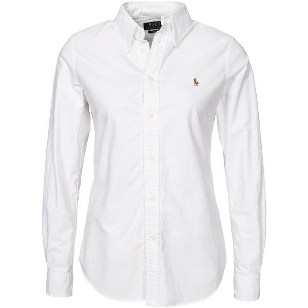 5838eaee1 Polo Ralph Lauren Harper Ls Shirt ( 125) ❤ liked on Polyvore featuring  tops