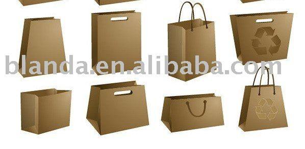 No impreso kraft bolsas de papel-Envasado Bolsas-Identificación ...