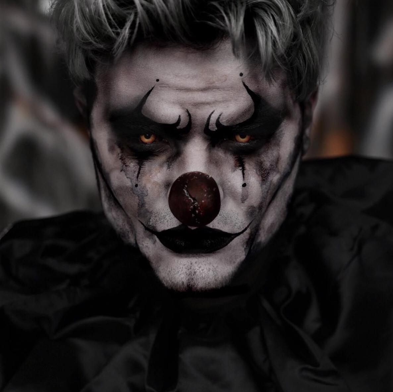 Tutorial link included! Clown makeup, Creepy clown