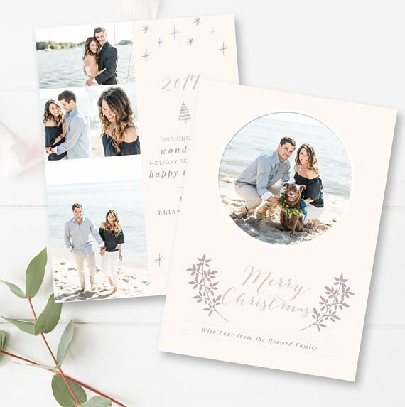 Holiday Card Template Christmas Card Photoshop Psd  Marketing