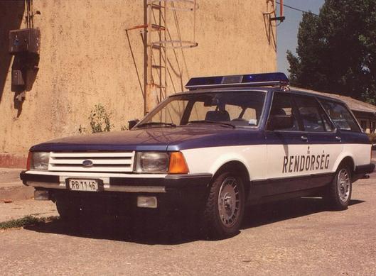 Hungary 1982 Ford Granada Mk2 Police Cars Ford Granada Ford