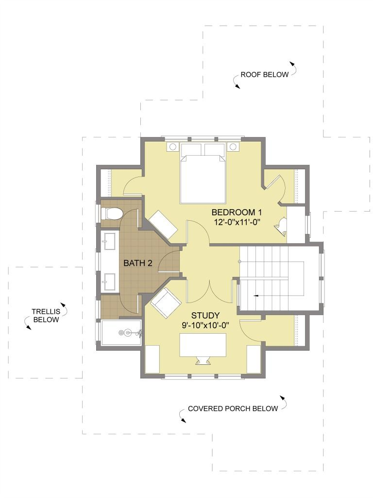 I Like This Shared Bathroom Configuration Porch House Plans
