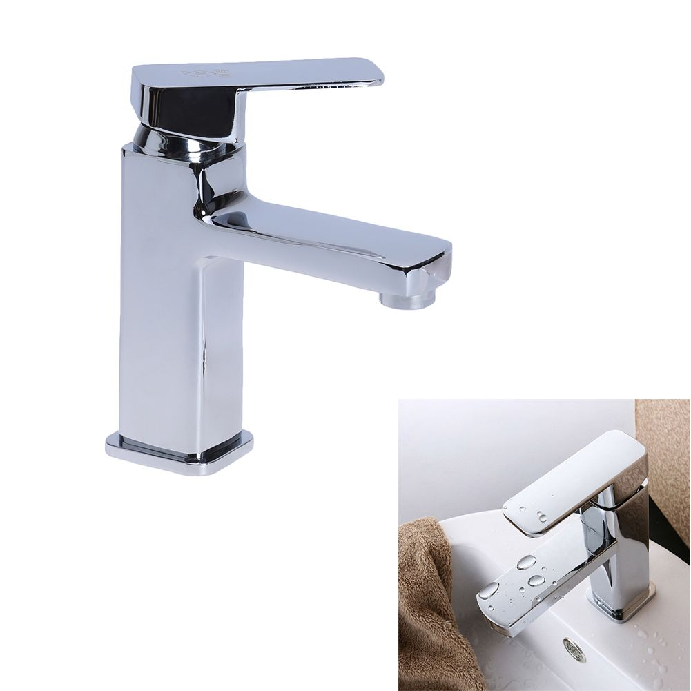 Chrome Basin Mixer Tap Bathroom Sink Quartet Single Hole Hot And ...