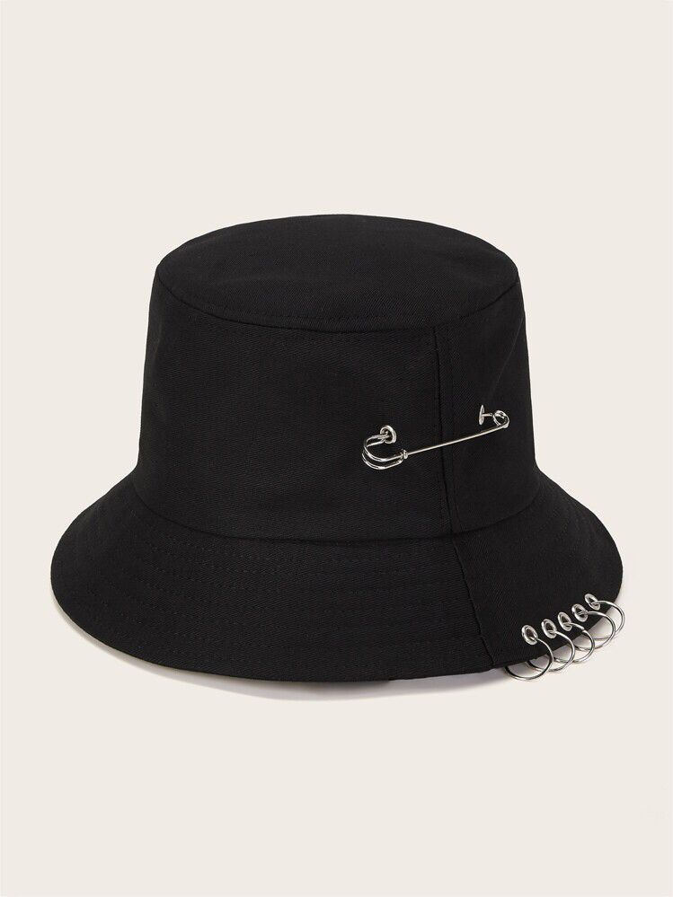 Guys O Ring Decor Bucket Hatcheck Out This Guys O Ring Decor Bucket Hat On Romwe And Explore More To Meet Your Fashion Needs Bucket Hat Hats Bucket