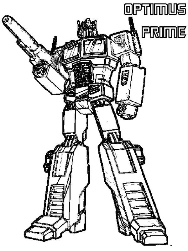 Gentil Free Transformer Prime Coloring Pages For Print Picture 11 550x733 Picture