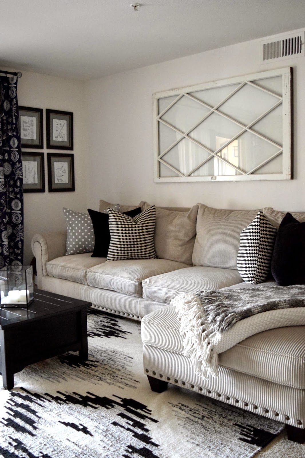 Sectional | Inspirations Decor | Modern farmhouse living room decor ...