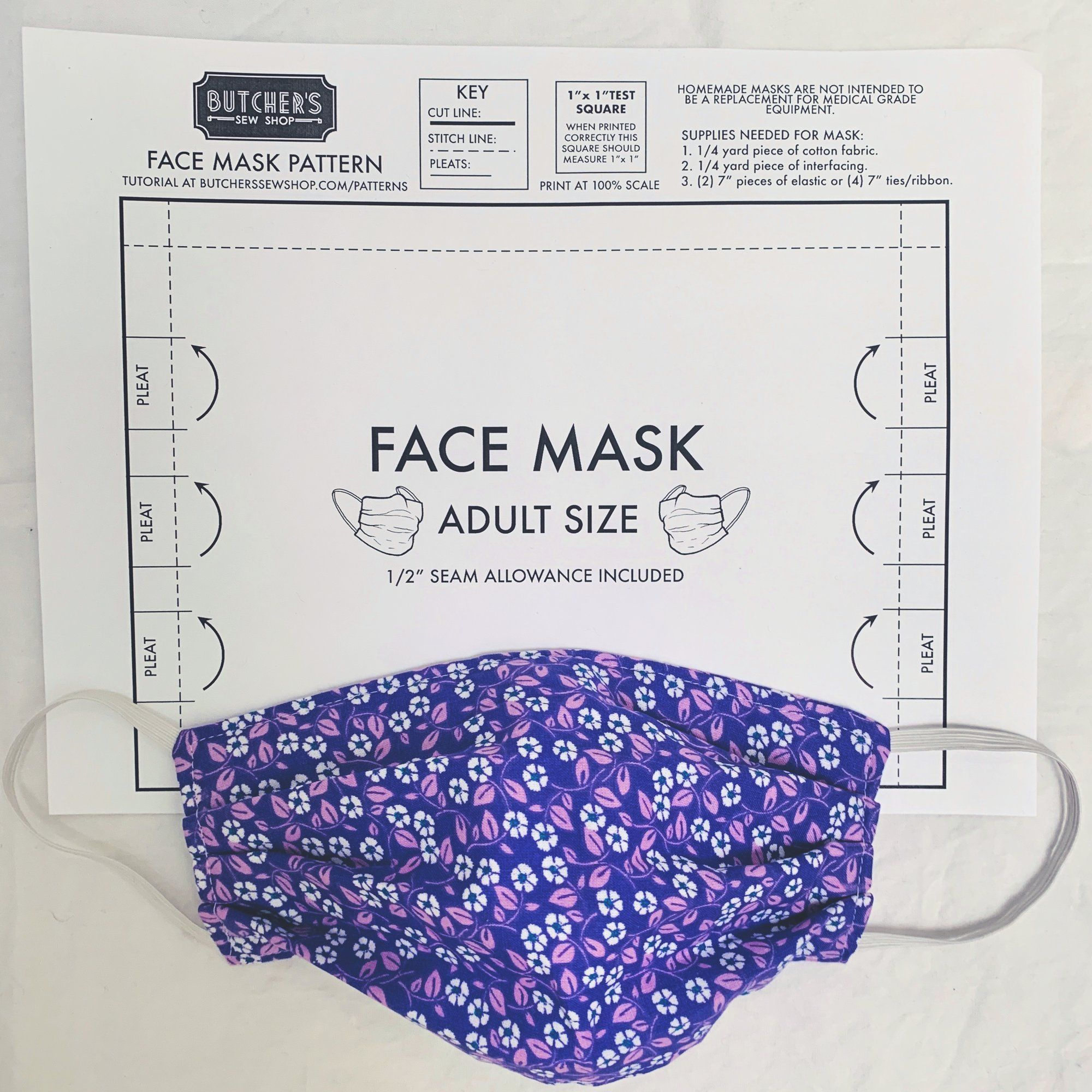 Adult Face Mask Sewing Pattern Pattern Sewing Sewing Patterns