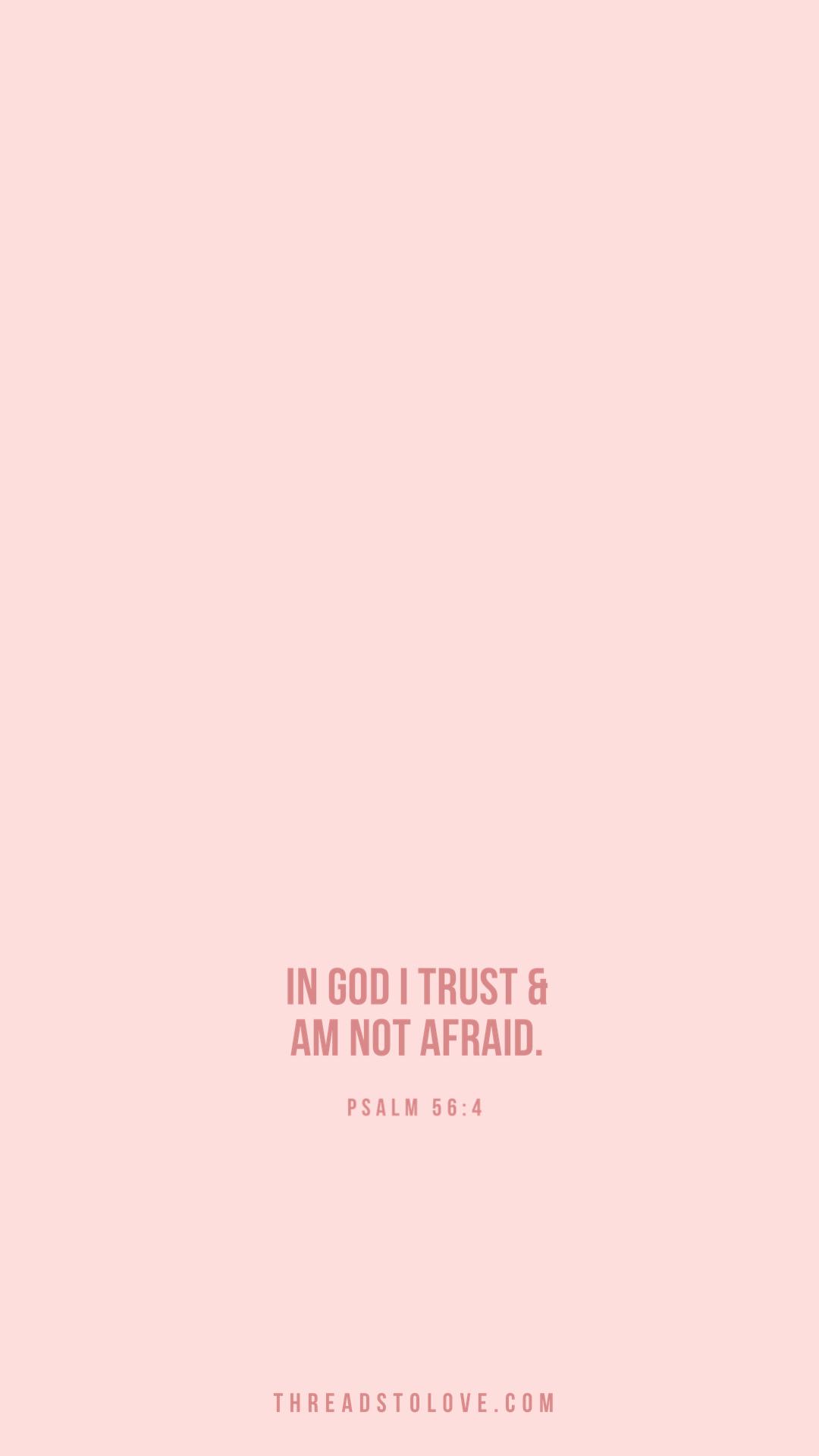 In God I Trust & Am Not Afraid
