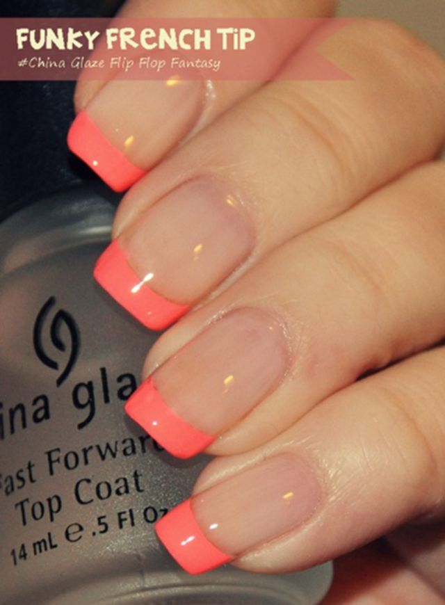 fantastic-French-manicure-for-your-ideas-coral-French | Nails ...