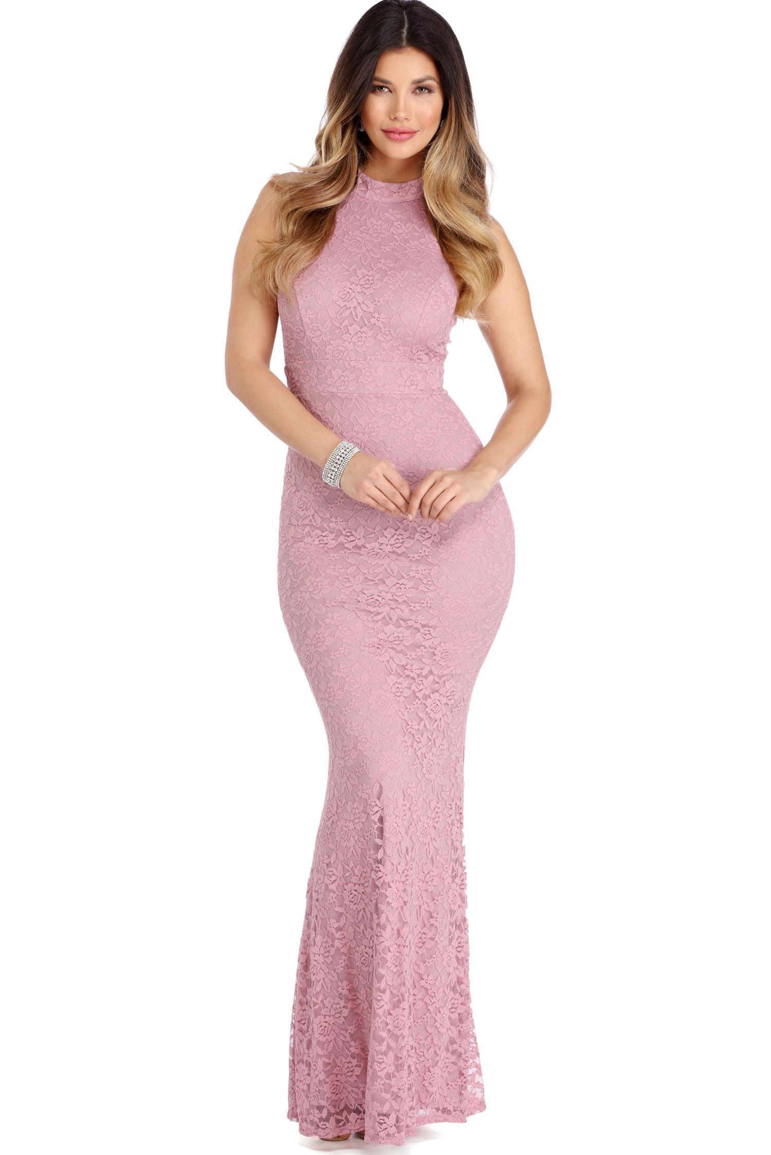 Final sale marcia mauve sweet romance dress mauve red carpet