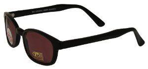 21293dcd2ccbb Pacific Coast Original KD s Biker Sunglasses (Black Frame Rose Colored Lens)