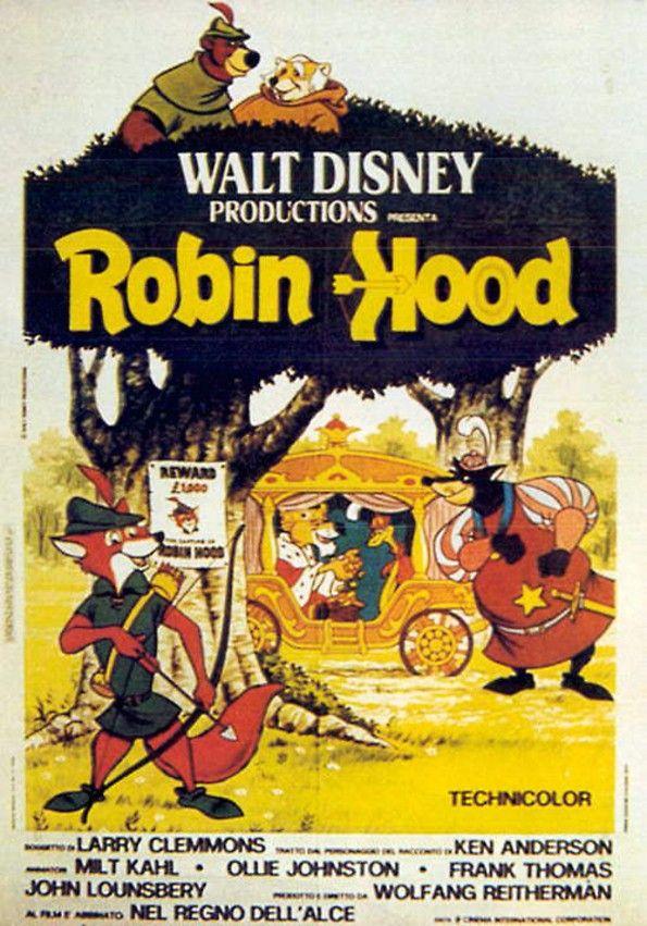 Robin Hood Disney Original Italian Poster 1973 Movie Mind