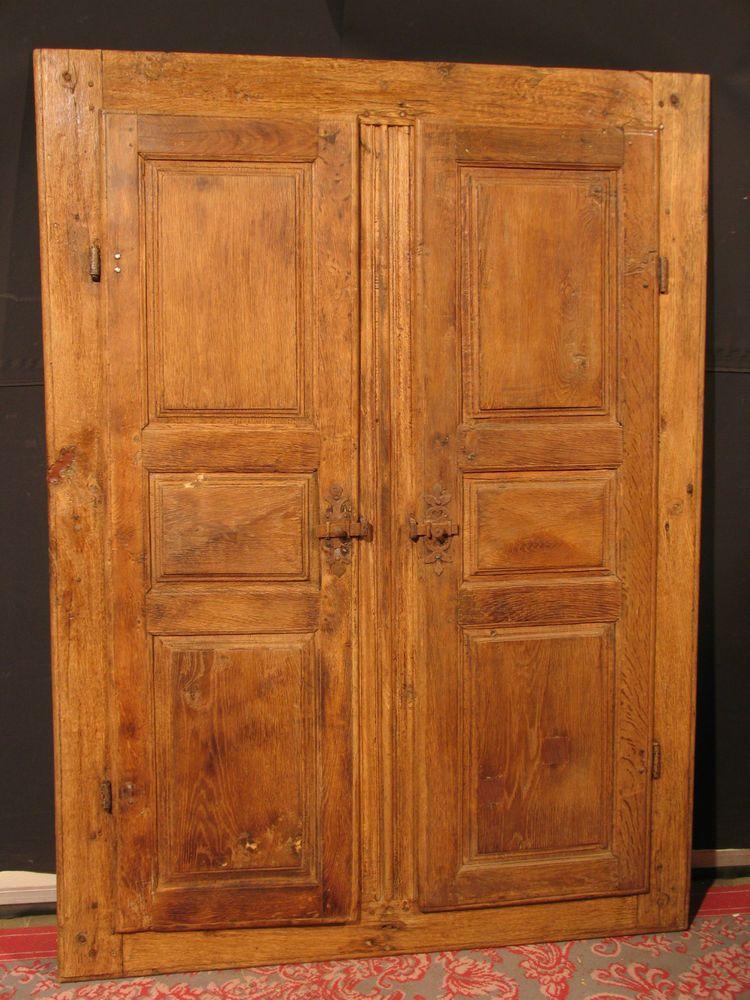 ANCIENNE PAIRES DE PORTES DARMOIRE AVEC BATI ème En Chêne Façade - Porte placard coulissante avec serrurier paris 18