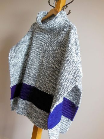 Chilly Day Poncho Knitting pattern by Diana Poirie