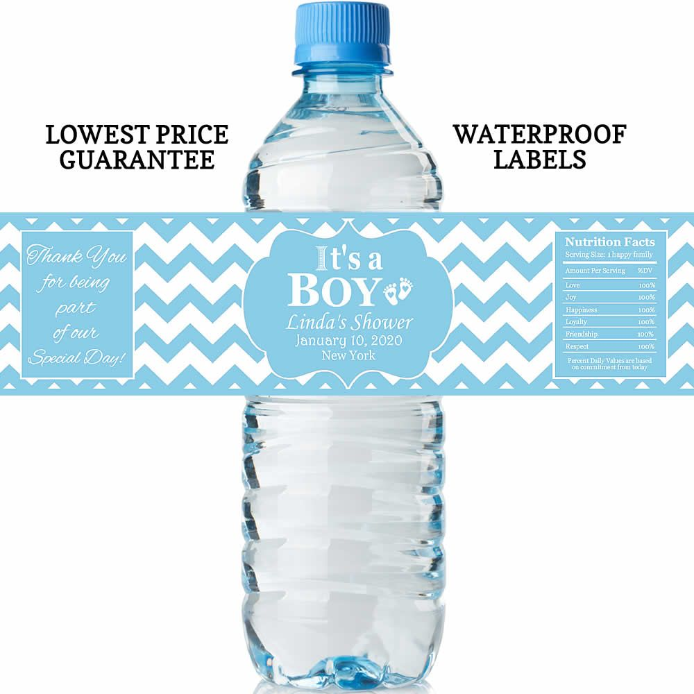 Baby Shower Water Bottle Labels Lowest Price Water Proof Labels Free Customization Water Bottle Labels Baby Shower Baby Shower Water Bottles Water Bottle Labels