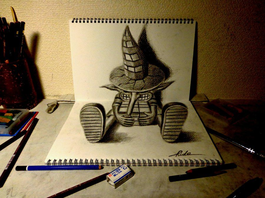 3d drawing wanderer by nagaihideyuki deviantart com on deviantart · amazing drawingsart