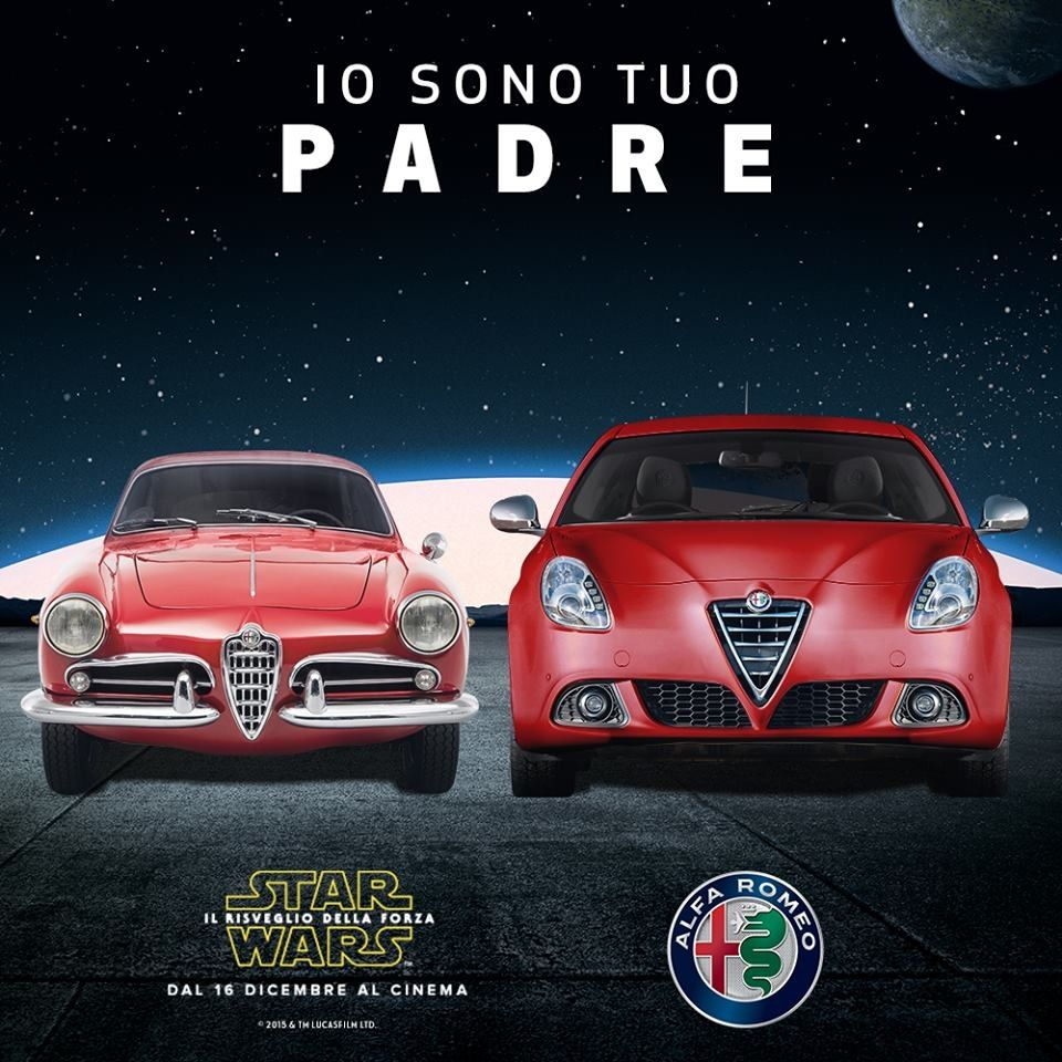 Promocional De Star Wars Alfa Romeo Diciembre Del 2015 Italien