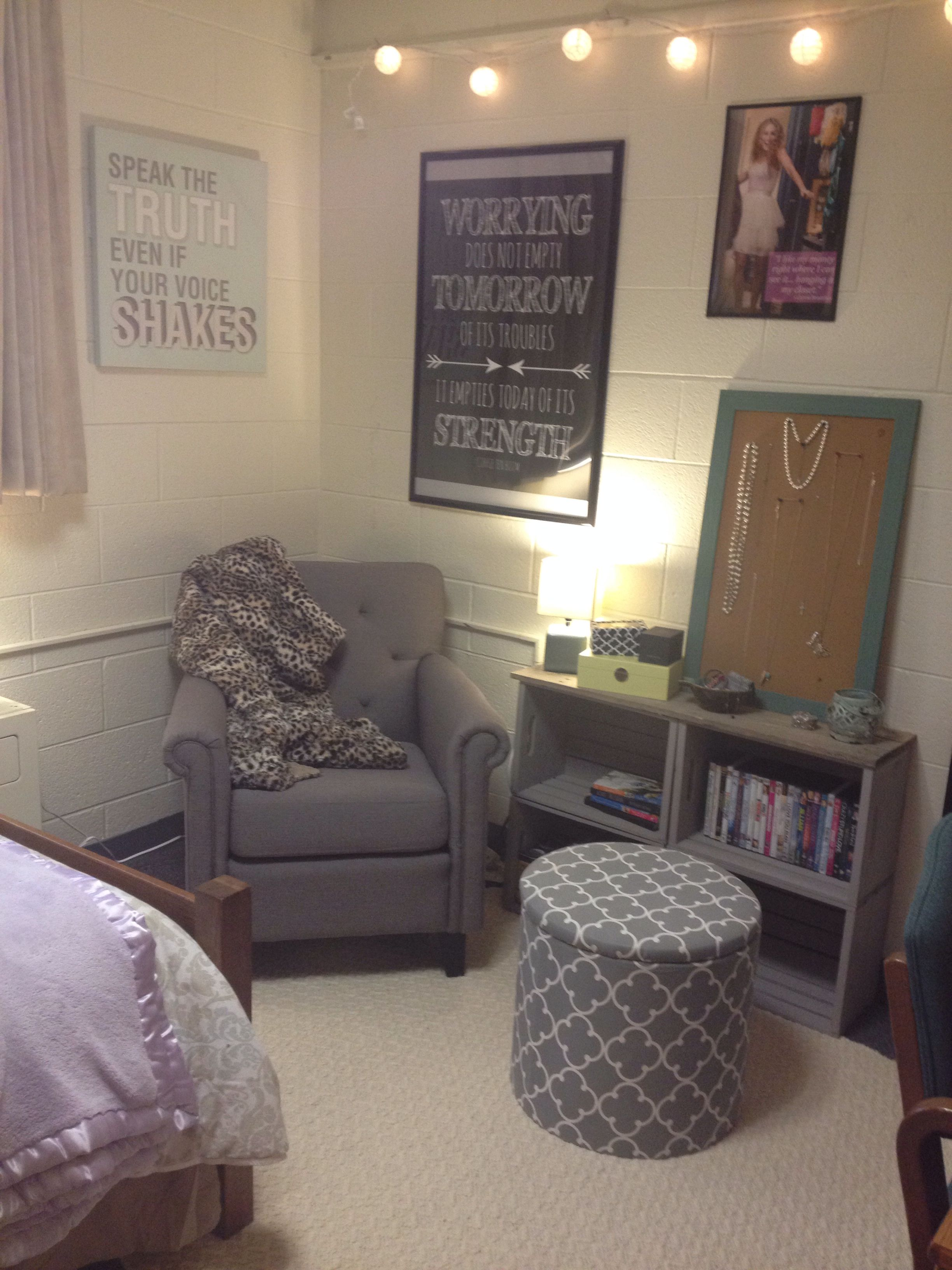 Ideas For Dorm Room: Indiana University Single Dorm-Teter Rabb. Classy & Cozy