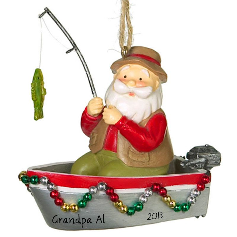 Decorated boats for christmas fishing boat santa for Blow up fishing boat