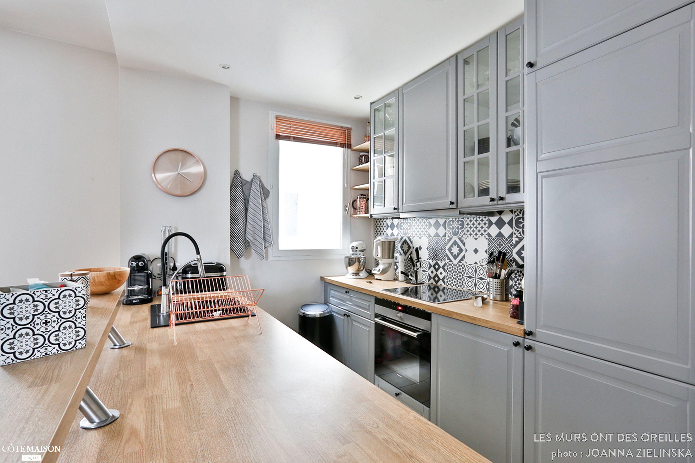 Un Total Look Gris Et Bois Pour La Partie Cuisine Architecture