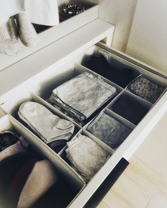 Organizzare il guardaroba con le scatole IKEA