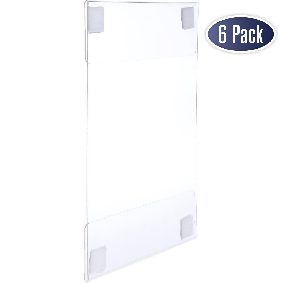 Amazon Com Acrylic Sign Holder With Hook And Loop Adhesive 8 5 X 11 Inches Portrait Or 11 X 8 5 Inches Landscap Acrylic Sign Sign Holder Plastic Letters