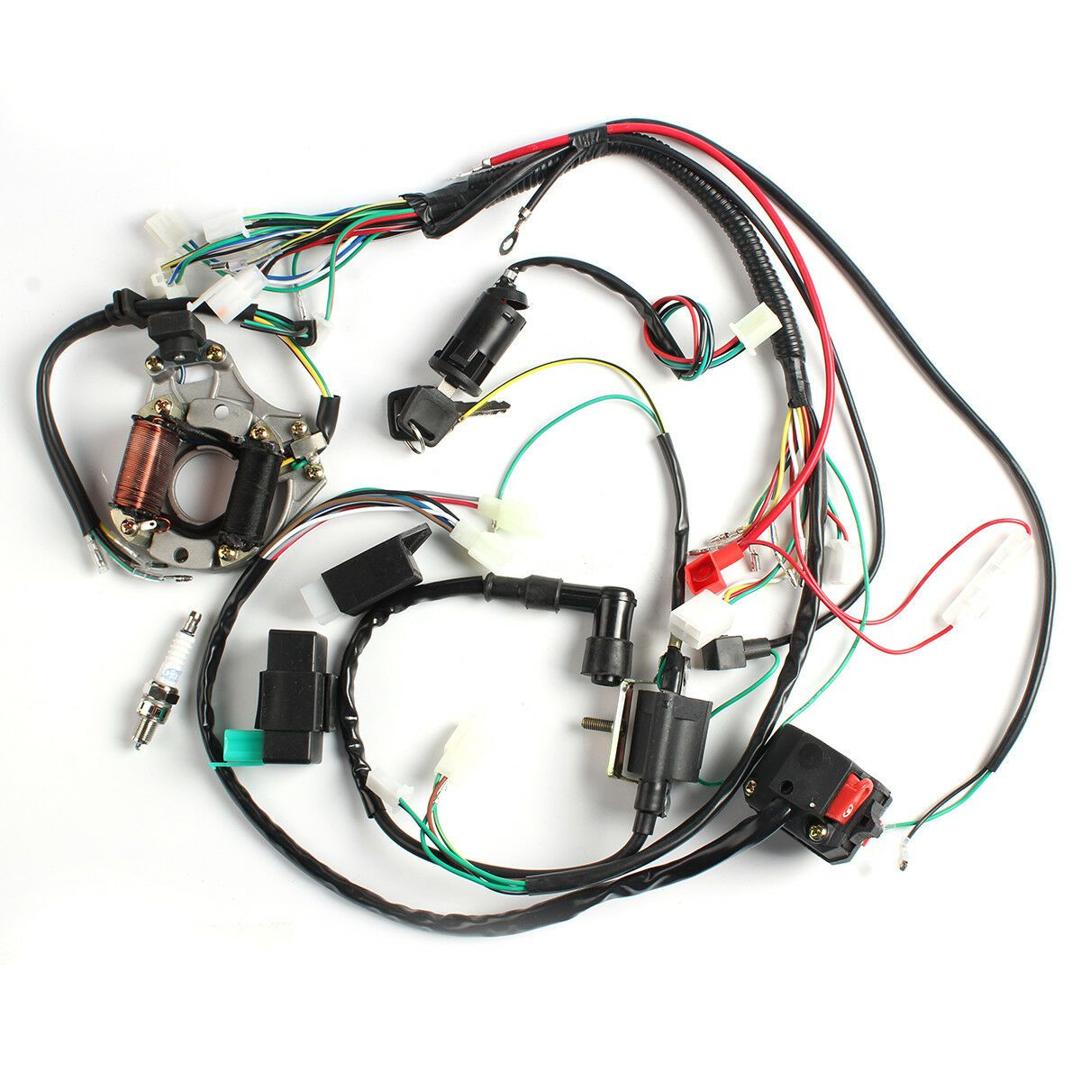50cc110cc CDI Wire Harness STATOR Assembly Wiring Kit