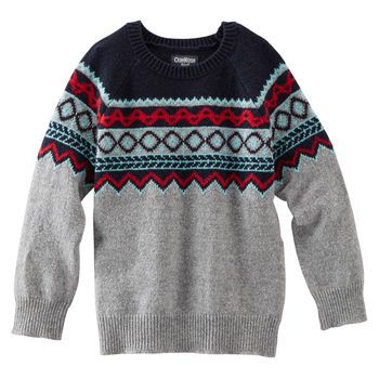Fair Isle Sweater | Toddler boy tops, Baby boy tops