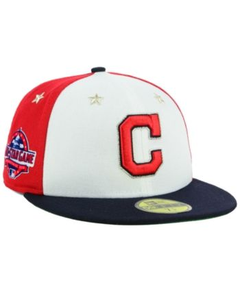 san francisco 10a57 dc49f New Era Boys  Cleveland Indians All Star Game w Patch 59FIFTY Fitted Cap -  Navy Scarlet White 6 1 2