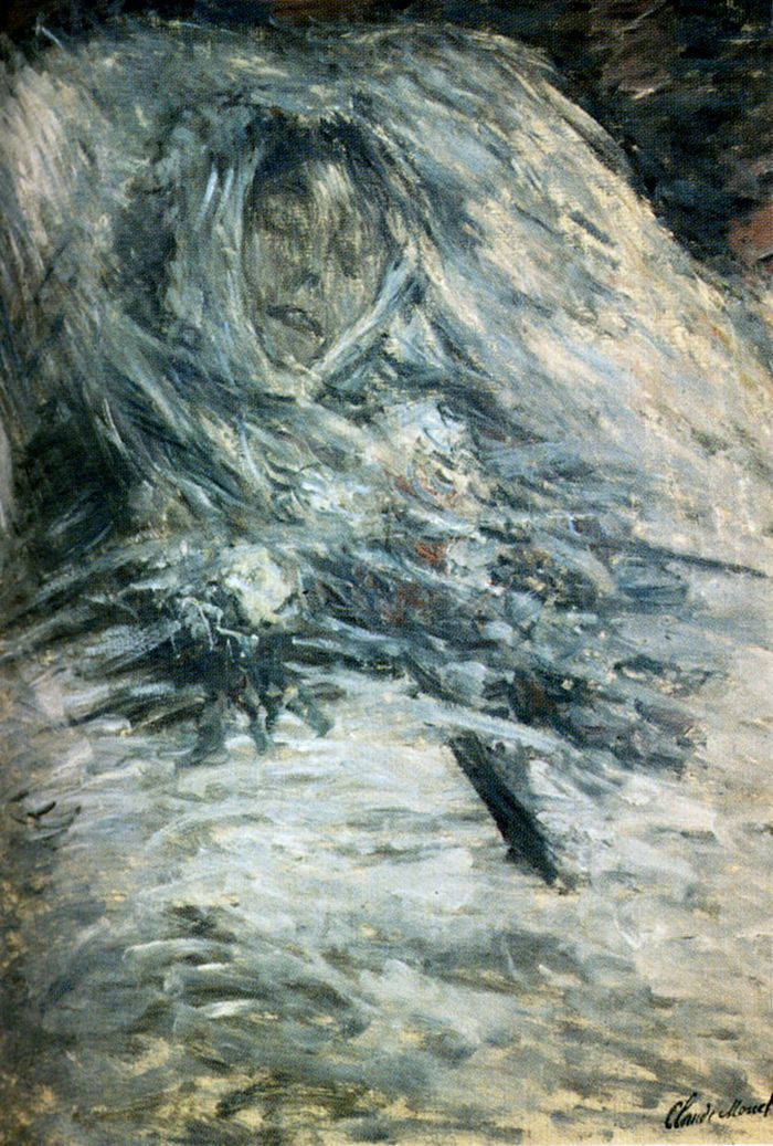 Camille Monet On Her Deathbed by Claude Monet #art