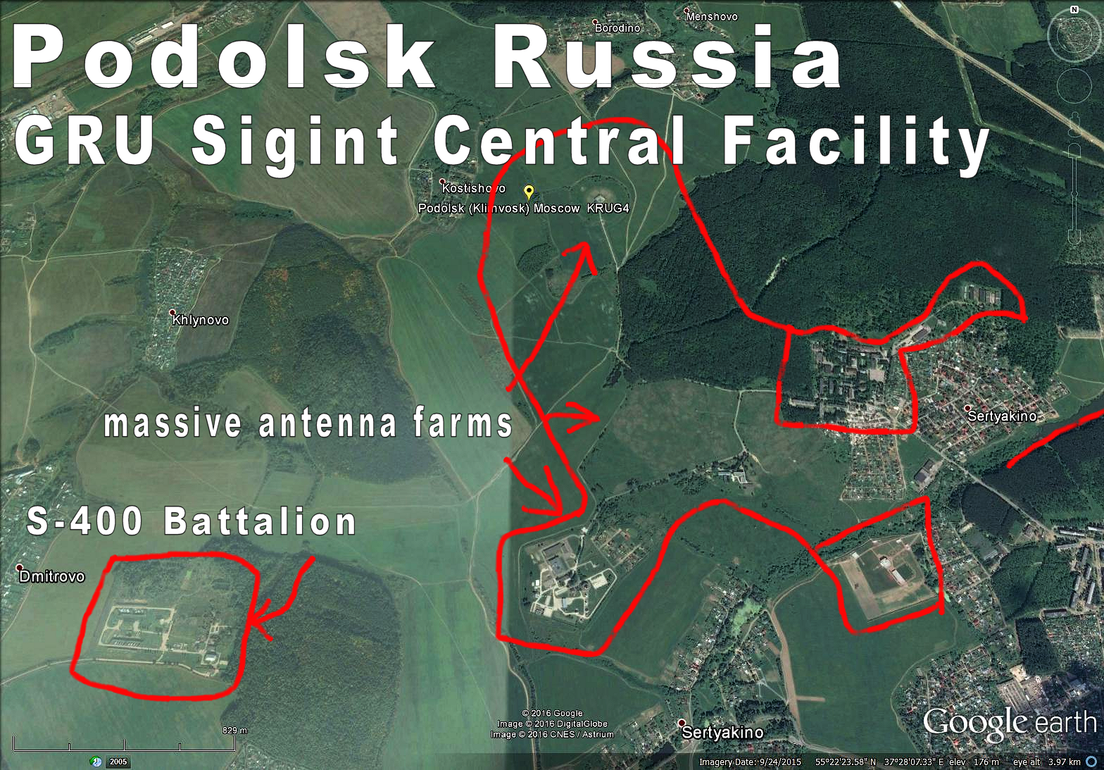 Podolsk Russia GRUu0027s main sigint facility Very