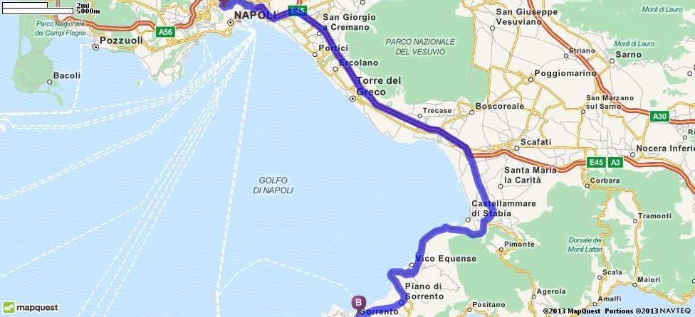 Driving Directions from Naples, Italy to Sorrente, Italy ... on mapquest rome italy, mapquest sicily italy, mapquest genoa italy, mapquest pisa italy, mapquest florence italy, mapquest europe italy, mapquest naples florida, mapquest umbria italy, mapquest lake como italy, mapquest portofino italy, mapquest tuscany italy, mapquest verona italy, mapquest bologna italy, mapquest siena italy,