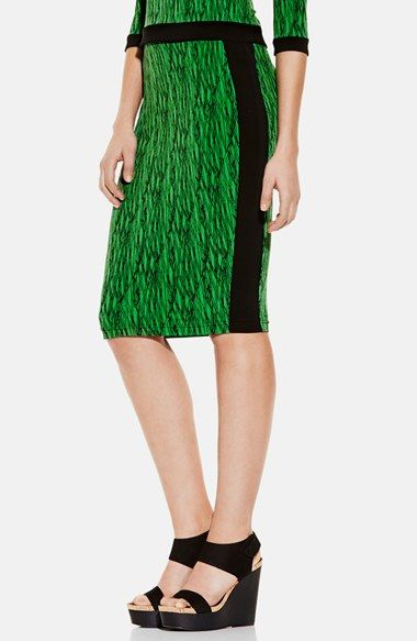 Just ordered  this in black Vince Camuto 'Linear Scratches' Print Pencil Skirt and top available at #Nordstrom