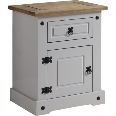 Corona Lecompte 1 Drawer Bedside Table Bedside Table Grey Painted Bedside Tables Bedside Table
