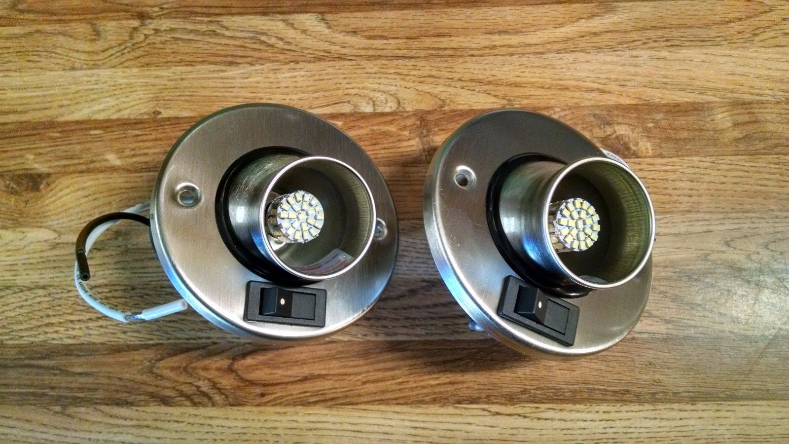 2pk 12v Led Rv Camper Trailer Motorhome Directional Reading Light Brushed Nickel Camper Trailers Rv Campers Rv Lighting