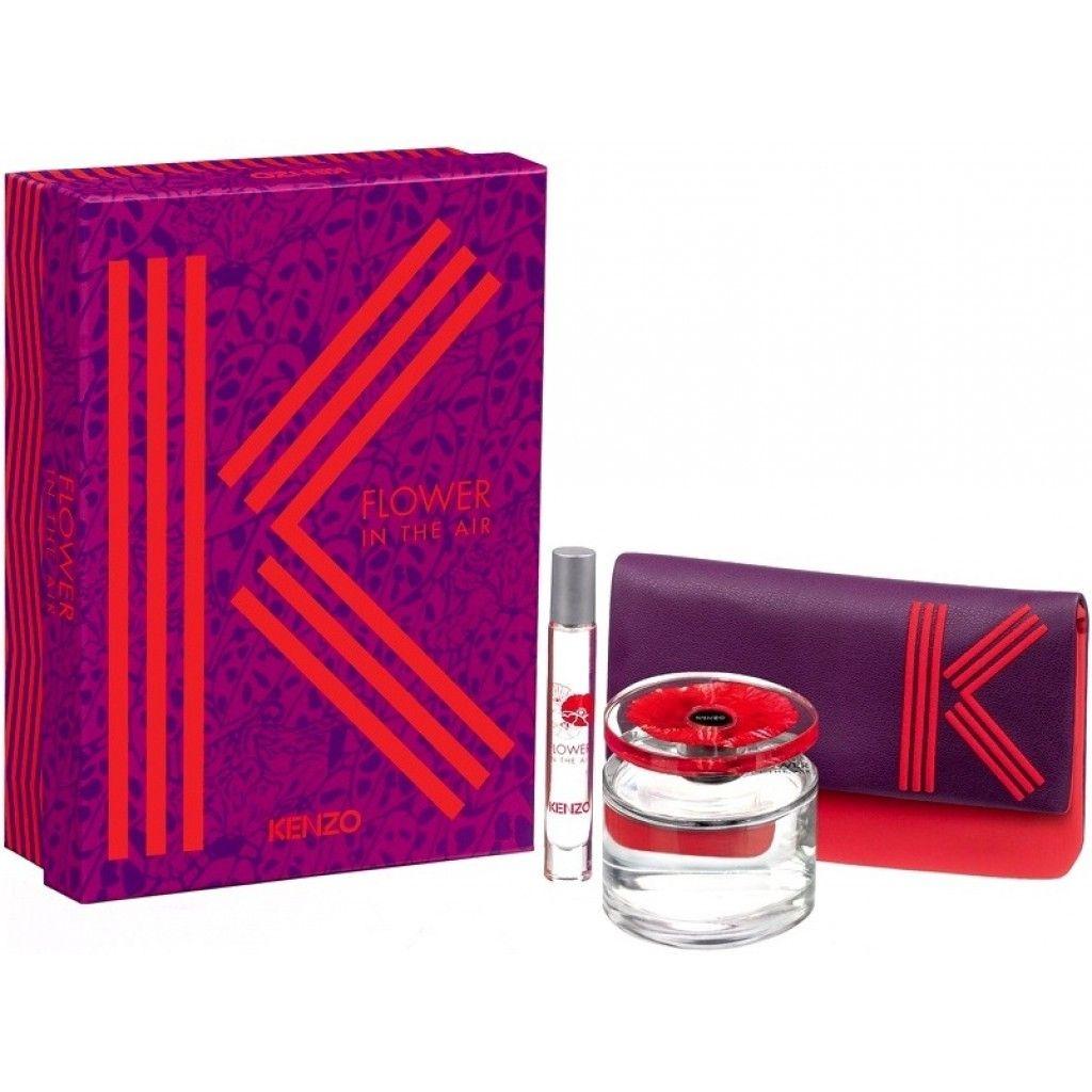 Kenzo Flower In The Air Edp 100 ml + Roll-On Edp 75 ml  Pouch Kadın Parfüm Seti