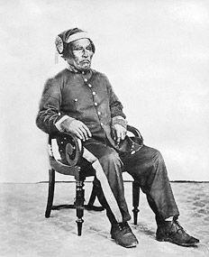 Casimiro Biguá en uniforme militar retratado por Esteban Gonnet