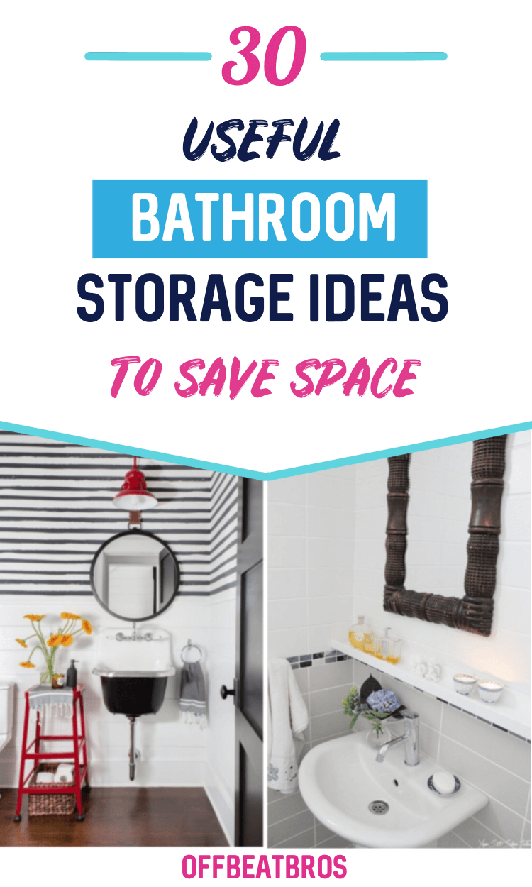 30 Nifty Bathroom Storage Ideas to Make Most of Space ...