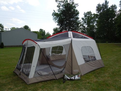 Customer Image Gallery for Wenzel Klondike 16 X Eight-Person Family Cabin Dome Tent (Light Grey/Taupe/Red) & Amazon.com: Wenzel Klondike 16 X 11-Feet Eight-Person Family Cabin ...