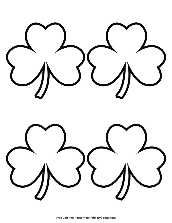 St Patricks Day Coloring Pages Ebook Simple Shamrock Outline 4
