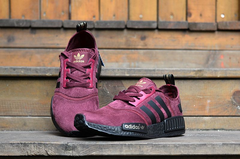 hot sale online 55bd5 abb53 Discount Shoe Adidas NMD Men Women Fur Dark Red On Black Sale Online