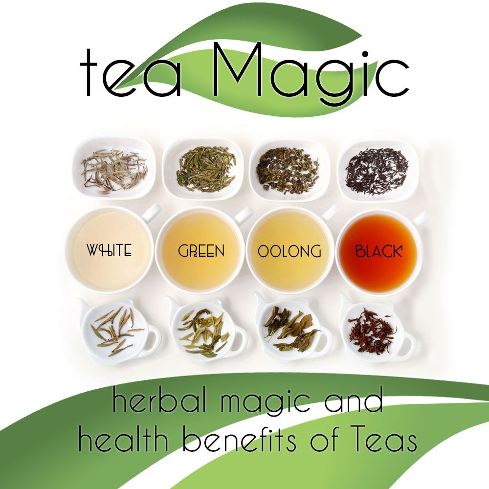 tea magic, green tea, black tea, white tea, oolong tea